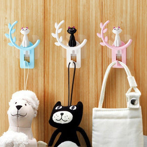 Bathroom Wall Hooks Kitchen Towel Wall Amount Hooks Cute Cat Hooks