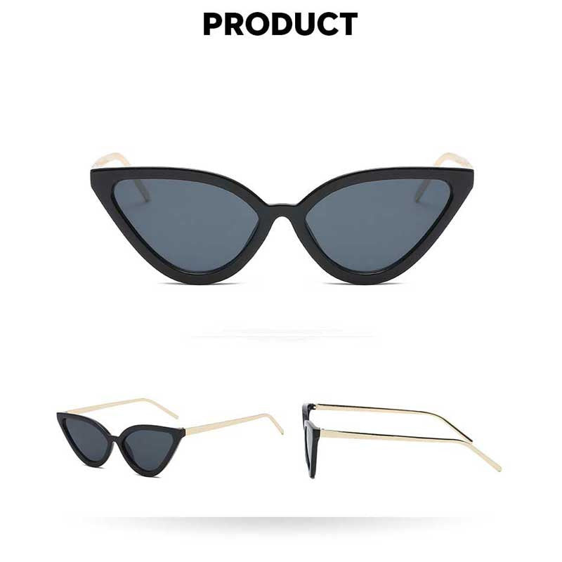 Sunglasses Women 2018 Brand Designer Fashion Sexy Vintage Small Cateye Sun glasses for Female New Retro Cat Eye Coating Glasses