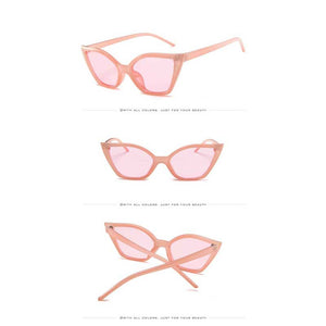 Cateye Sunglasses 2018 Brand Designer Women Vintage Sun glasses for Female Cat Eye Red Black Glasses Sexy Ladies Retro Eyewear