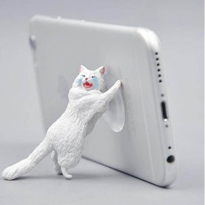 Cat Sucker Phone Stand Bracket Twisted Egg Mobile Phones Accessories Universal