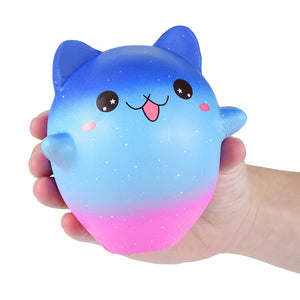 Jumbo Cartoon Galaxy Kitty Squishies Scented Cream Super Slow Rising Squeeze Toy