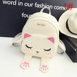 Women Cute Cat Backpack Bag