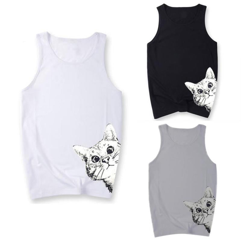 Peeking Cat Tank Top