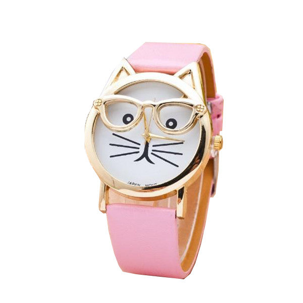 Adorable Nerdy Cat Watch