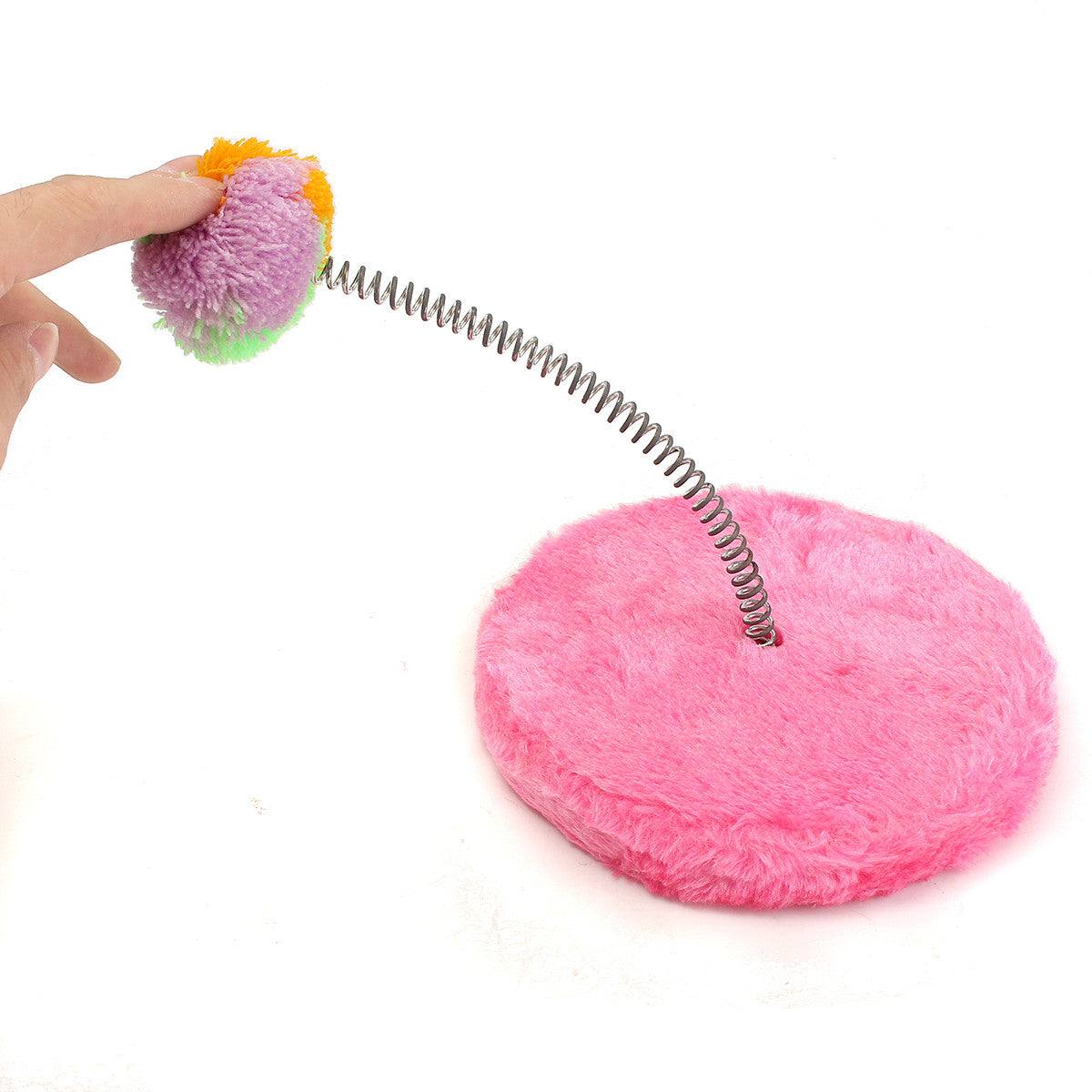 Cat Kitten Kitty Toy Play Pole Interactive Soft Ball Circle Wand Pet Dog Teaser