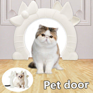 "7"" MAX 30lbs Cat door The Kitty Pass Interior Indoor Hidden Litter Dog Box Pet"