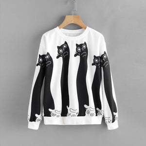 Black&White Cats Sweatshirt