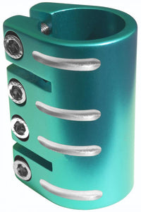 Blazer Pro Quad Clamp With Shim - TEAL - Fits nearly all scooters