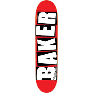 BAKER BRAND LOGO white on red Skateboard deck various sizes