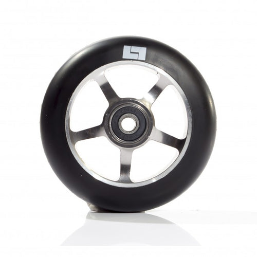 Logic 100mm Classic Core 5 Spoke Scooter Wheels - RAW - with bearings