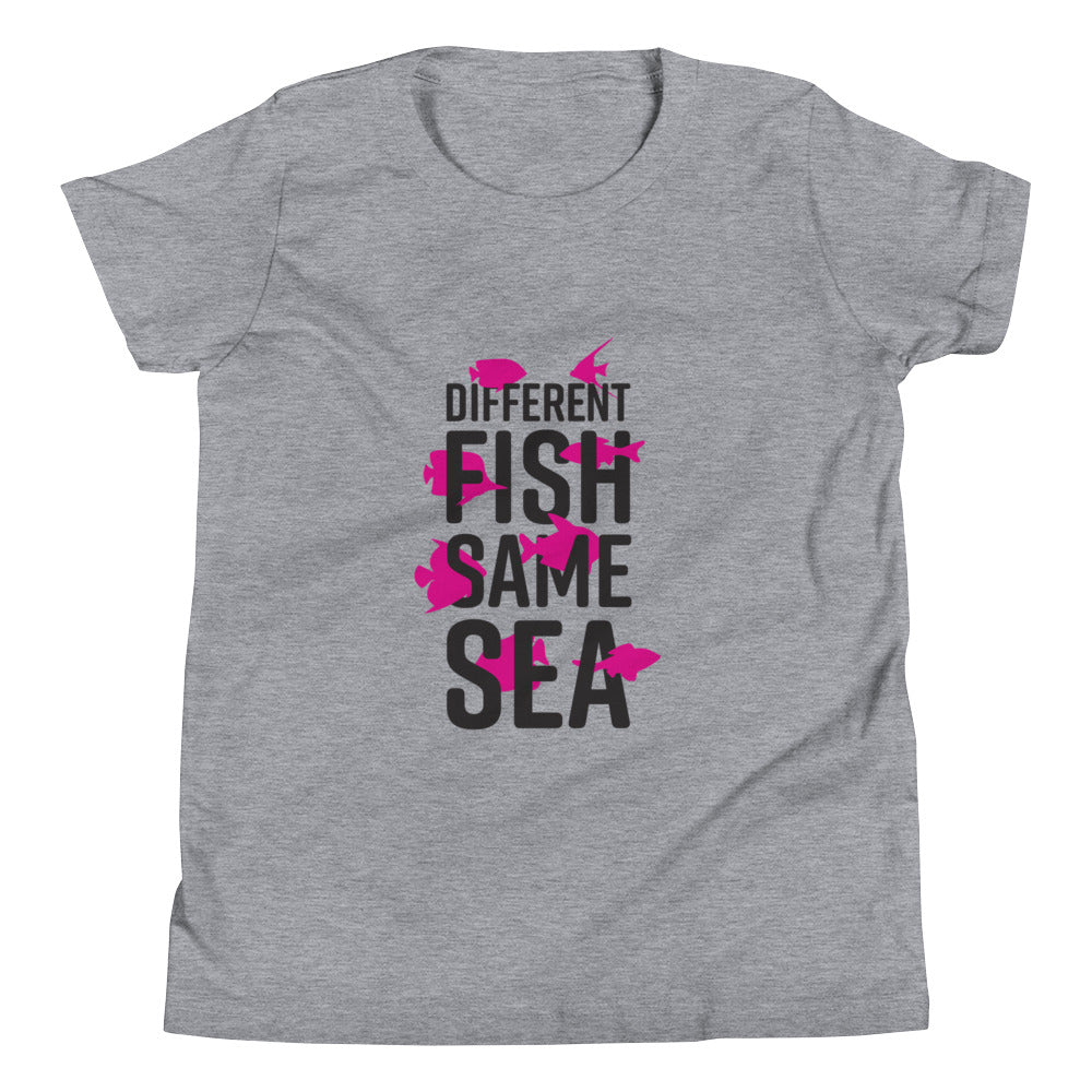 Different Fish Same Sea Kids T-shirt (Pink)