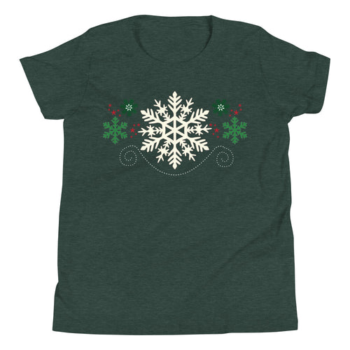 Snowflakes Kids Short Sleeve T-Shirt