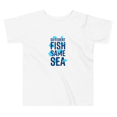 Different Fish Same Sea Toddler T-shirt (Blue)