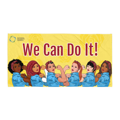 We Can Do It! Diverse Rosie the Riveter Beach Blanket