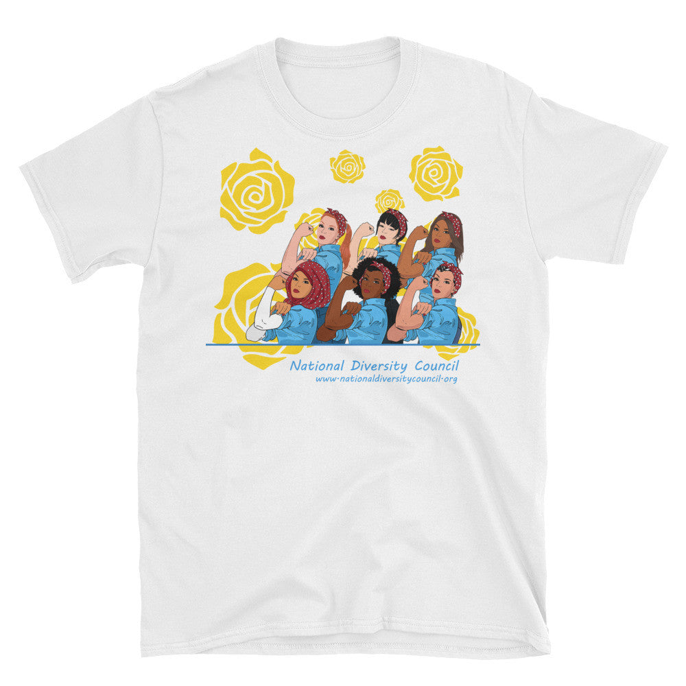 Diverse Rosie the Riveters short sleeve t-shirt, available in white only