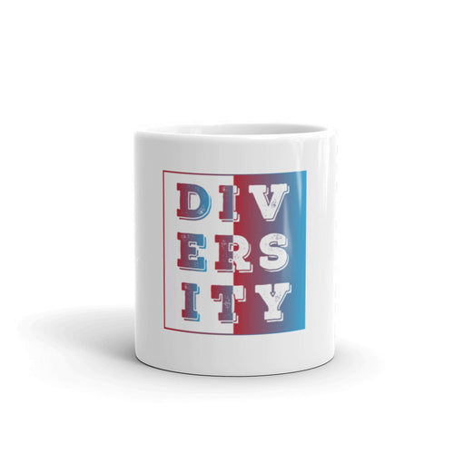 White Ceramic Diversity coffee mug