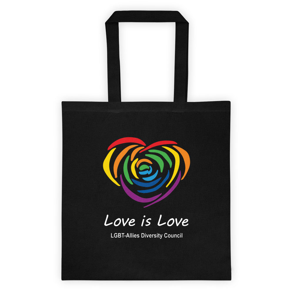 Black Love is Love LGBT canvas tote bag