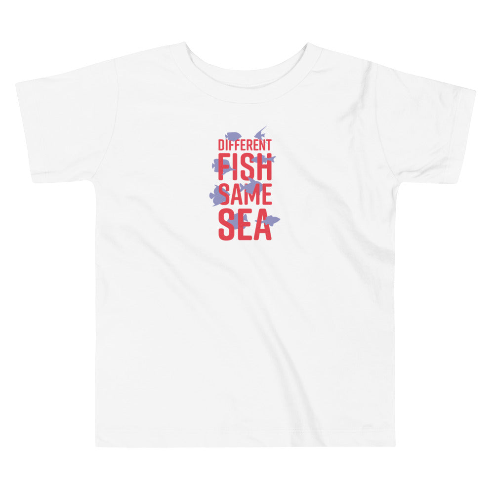Different Fish Same Sea Toddler T-shirt (Purple)
