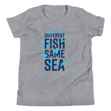 Different Fish Same Sea Kids T-shirt (Blue)