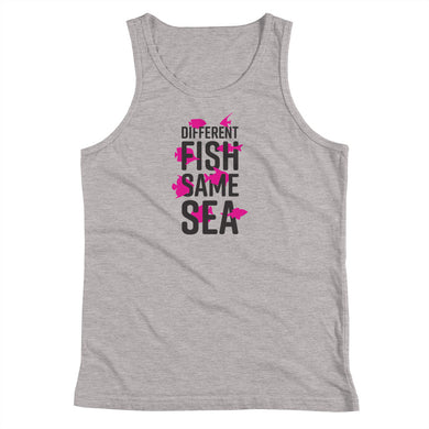 Different Fish Same Sea Kids Tank Top (Pink)
