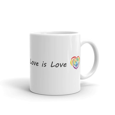 Love is Love LGBT white ceramic coffee mug