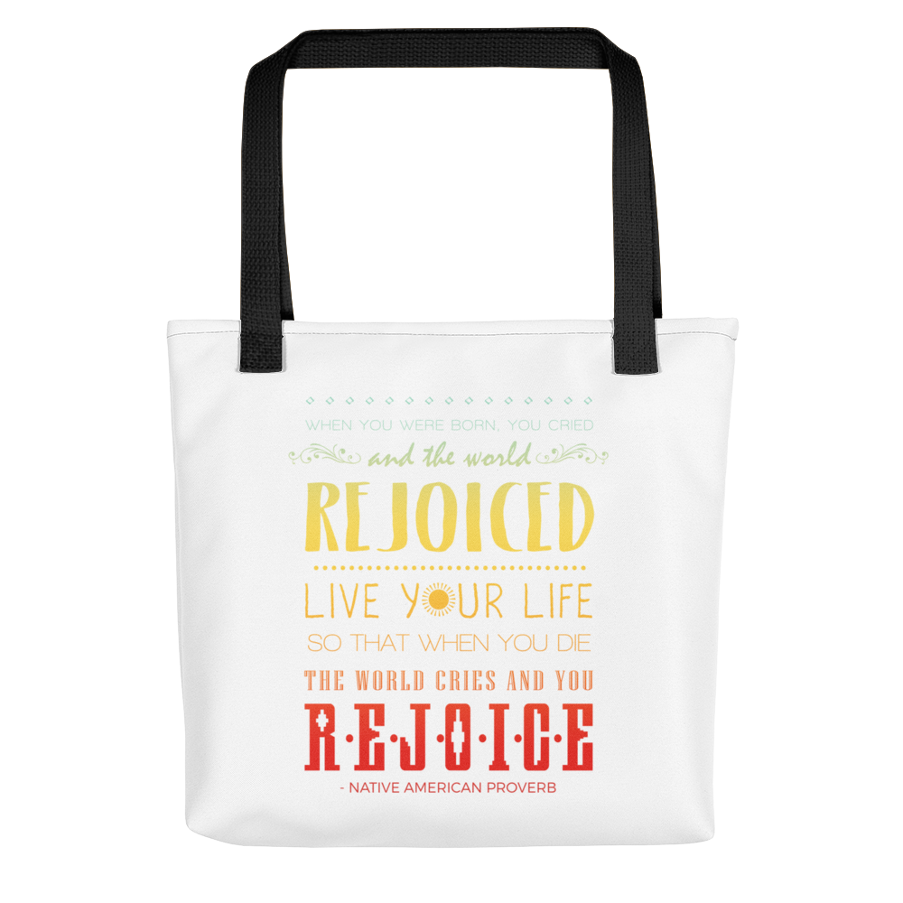 Native American Heritage Month: Rejoiced and Rejoice Tote bag