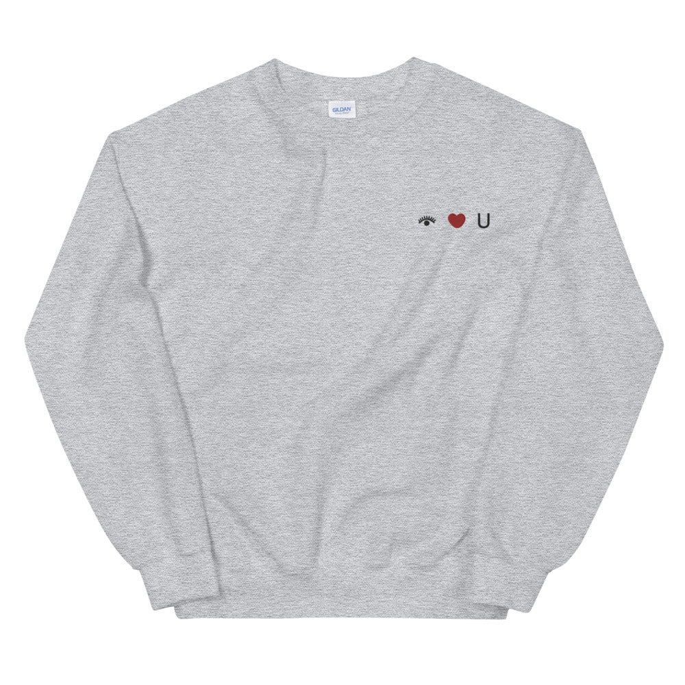 I Love You Embroidered Unisex Sweatshirt