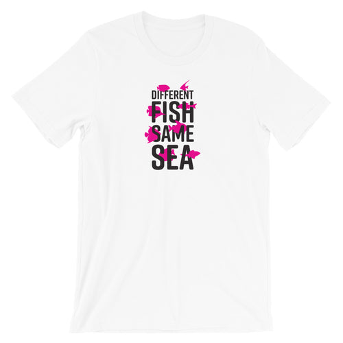 Different Fish Same Sea Unisex Unisex T-shirt (Pink)