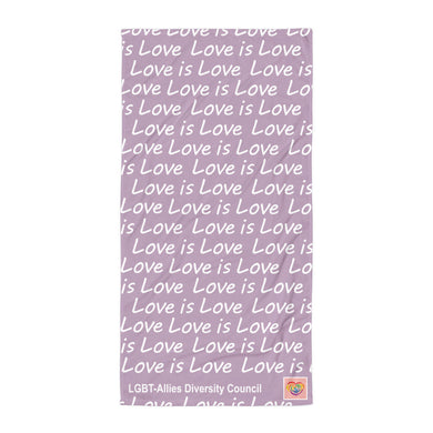 Love is Love Beach Blanket (purple)