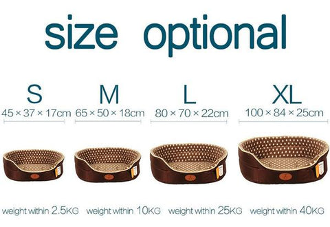 Double sided dog bed sizing