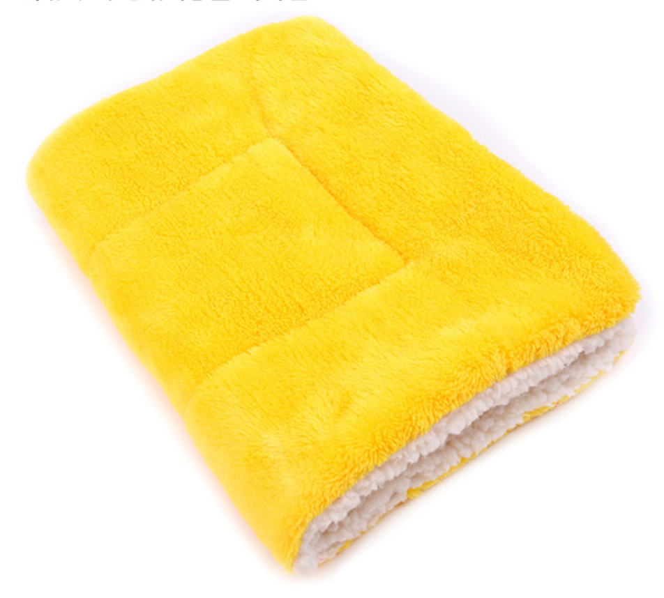 Soft Winter Pet Blanket yellow