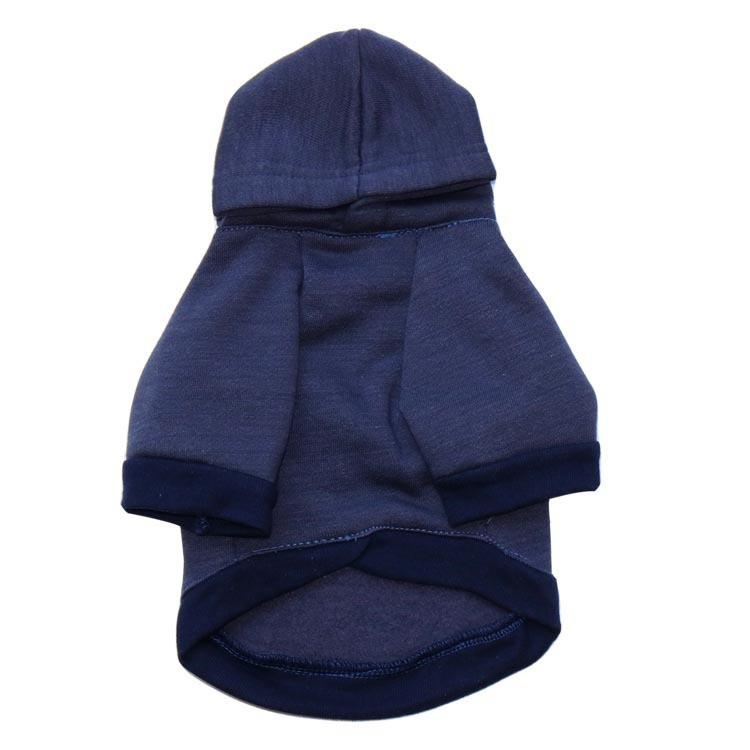 Dog Cotton Pullover - Red + Dark Blue Winter Jumper