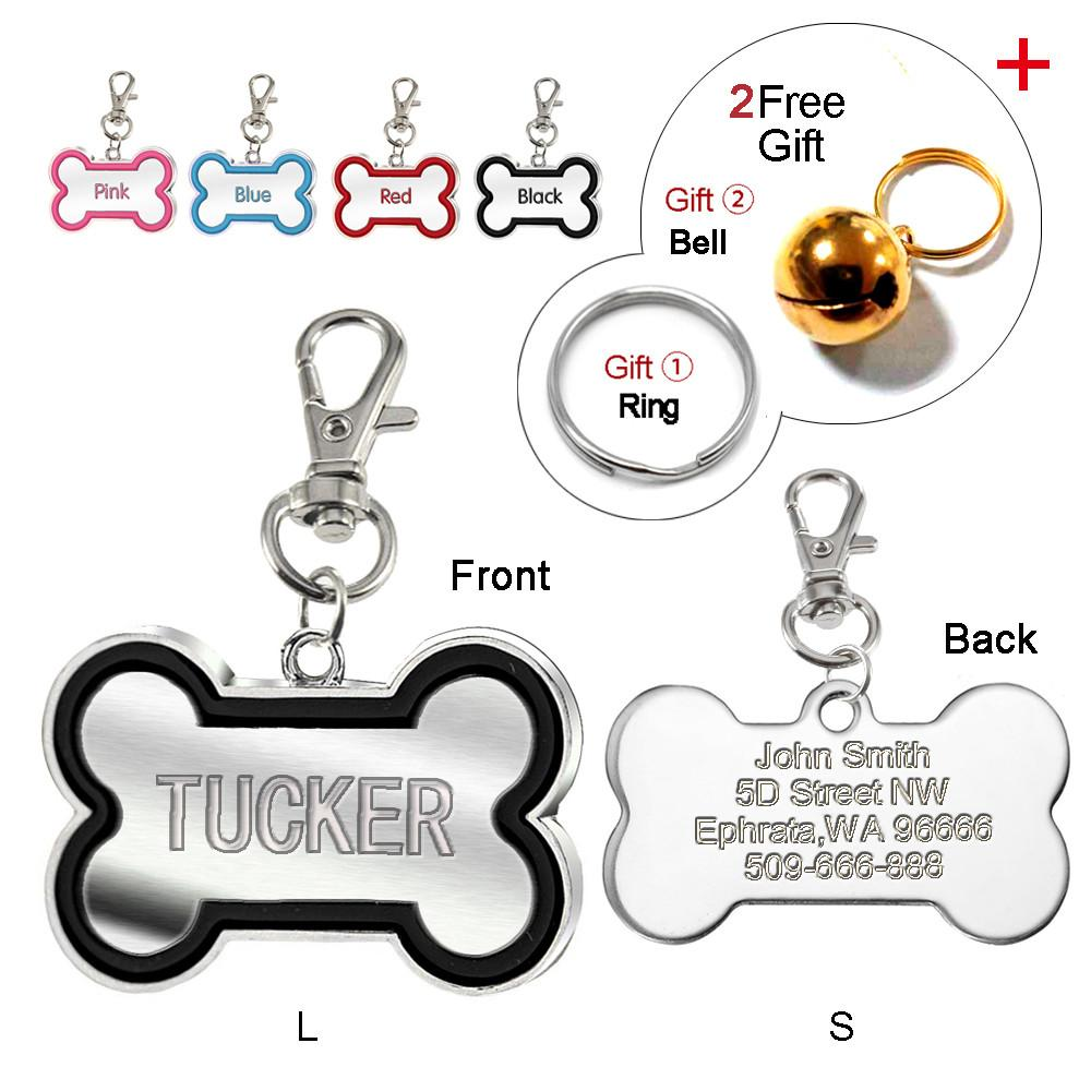 Dog Bone Custom Engraved ID Tag
