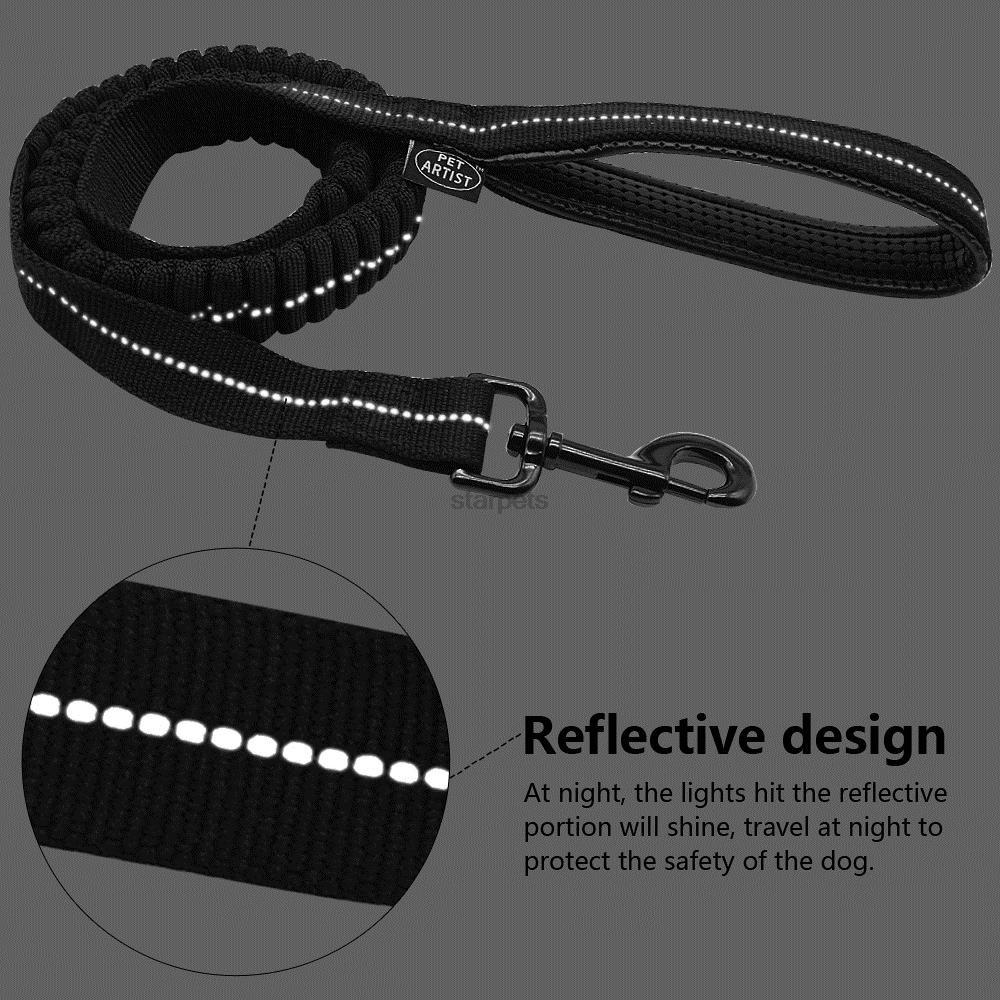 Black Bungee Lead Reflective Stitching