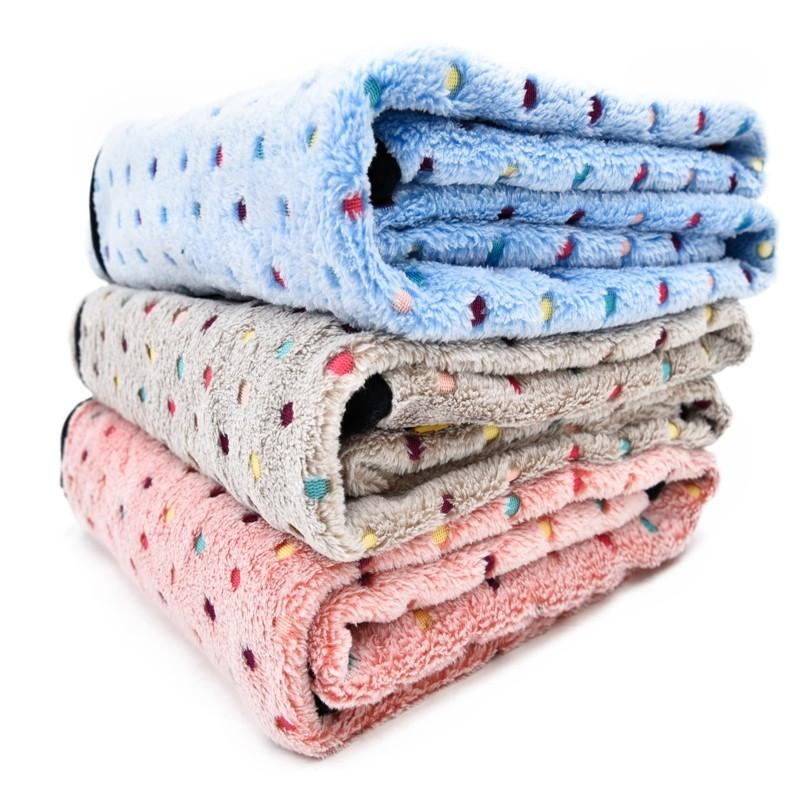 Ultra Thick Warm Pet Blankets pink, grey, blue