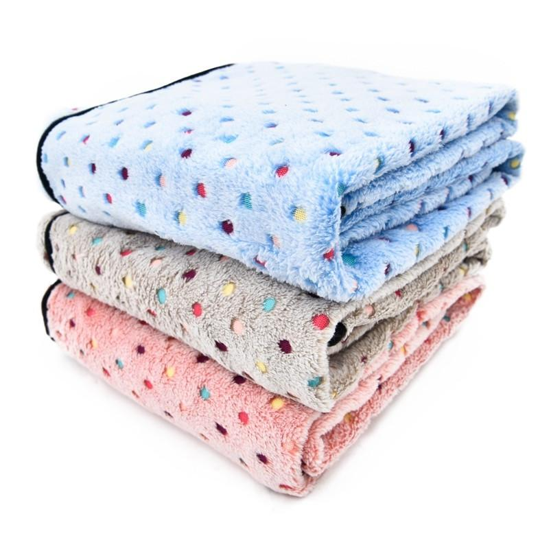 Ultra Thick Winter Pet Blankets pink, grey, blue