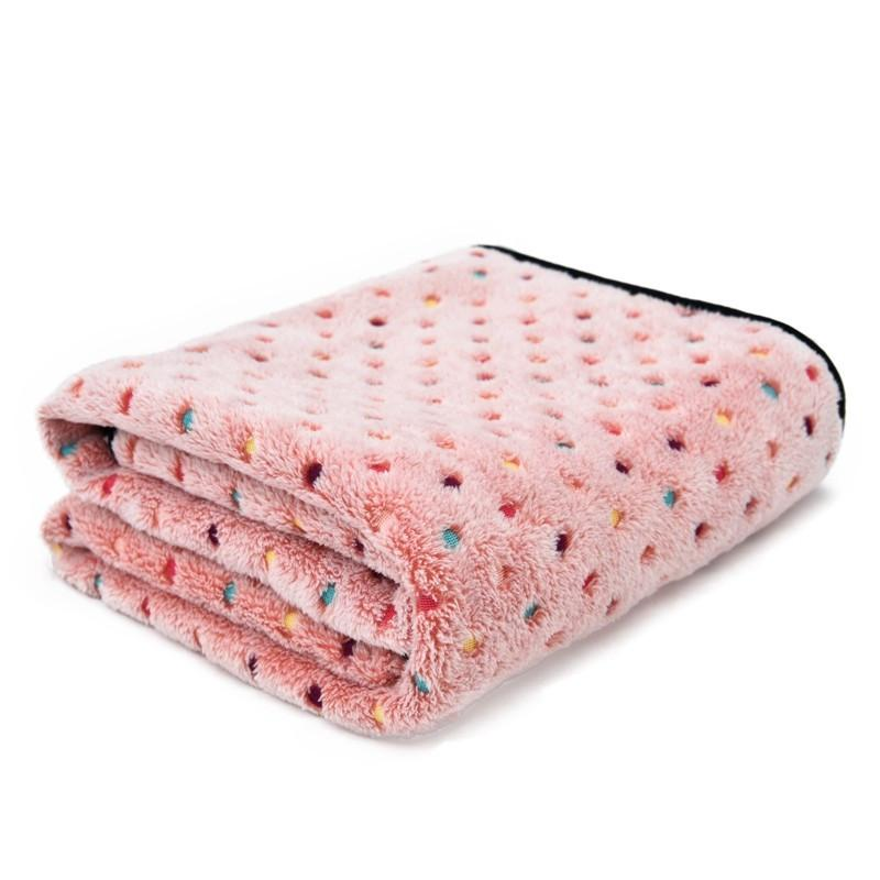 Ultra Thick Warm Pet Blanket pink