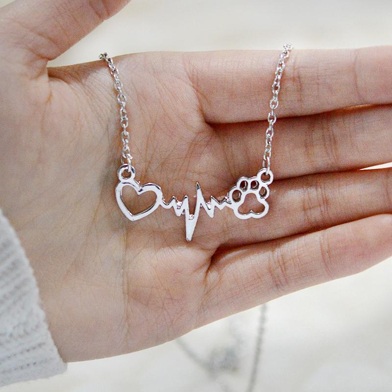 Heart Beating Paw Necklace