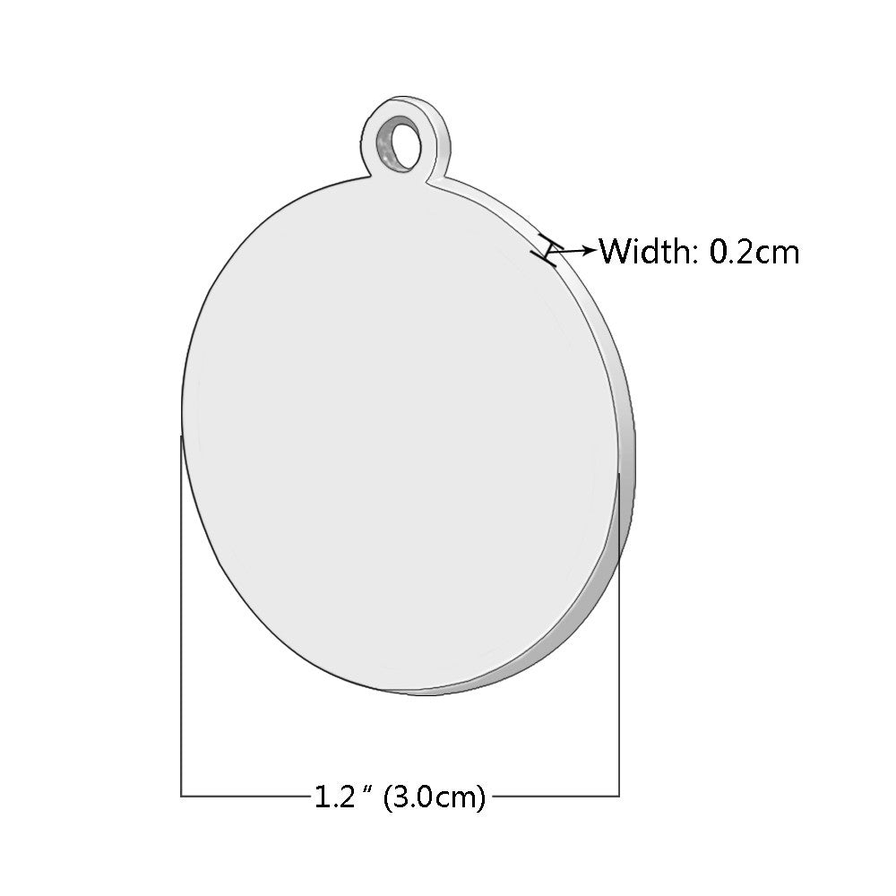 Engraved Pet Tag - Cat Face sizing