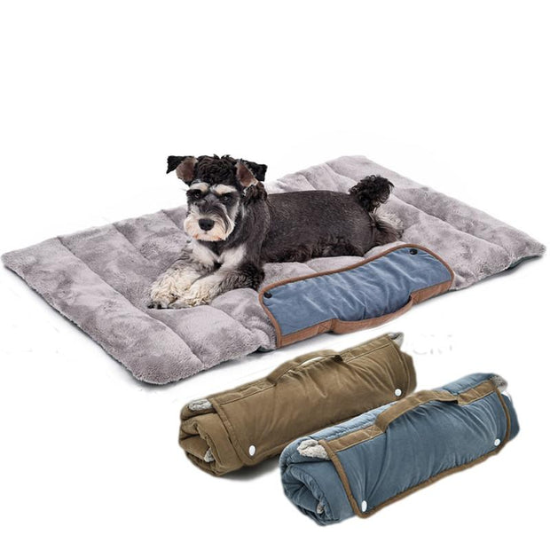 Foldable Soft Dog Travel Bed