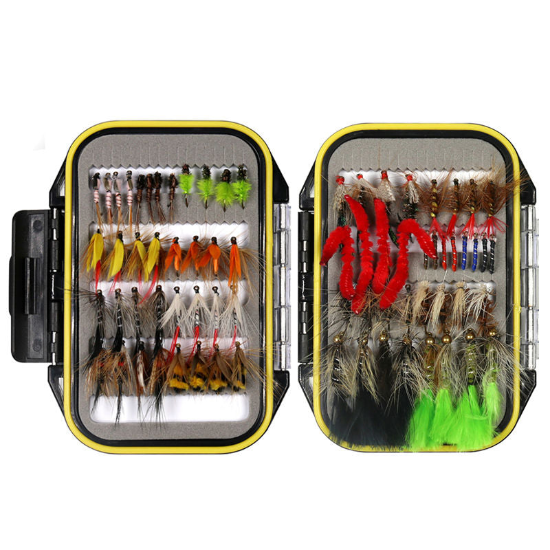32/50/214pcs All-In-One Fly Fishing Lure Kit