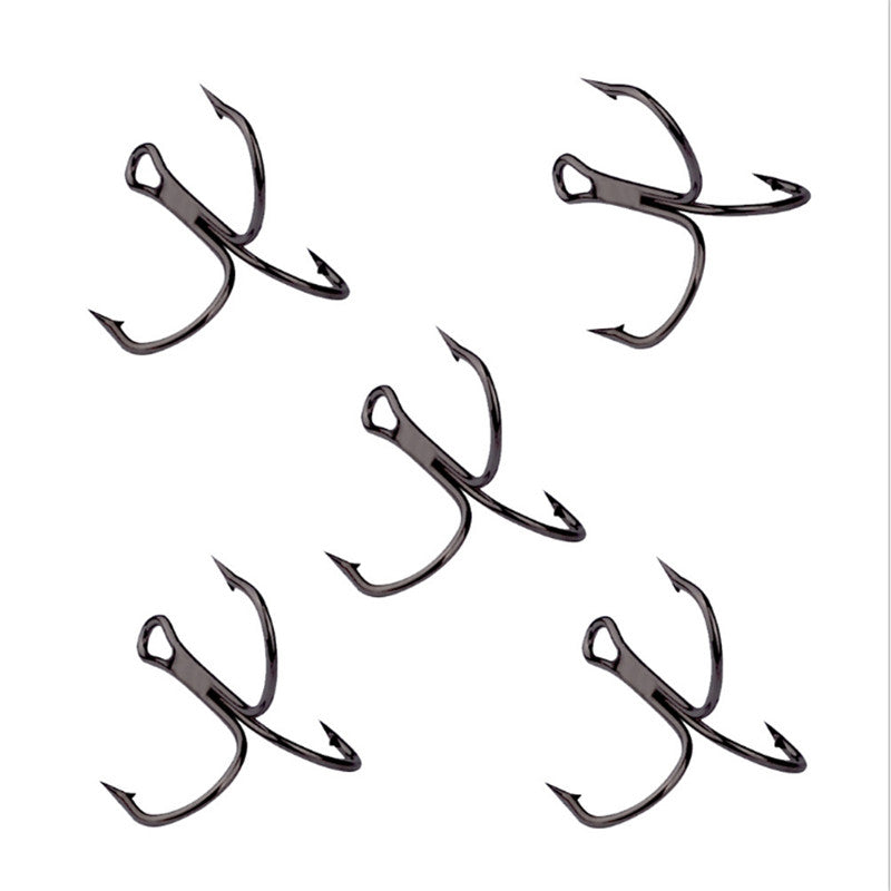 10pcs High Carbon Steel Overturned Treble Hooks