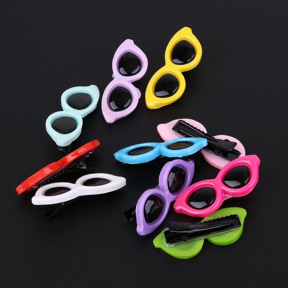 10pcs/Set Colorful Plastic Pet Sunglasses