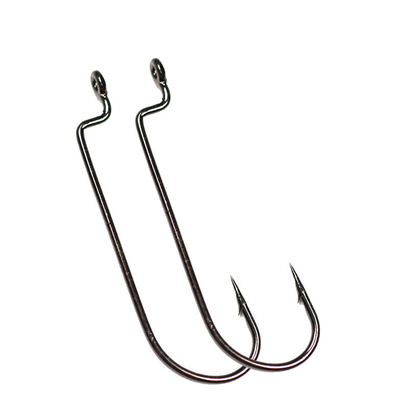 20pcs High Carbon Offset Shank Barbed Worm Hook