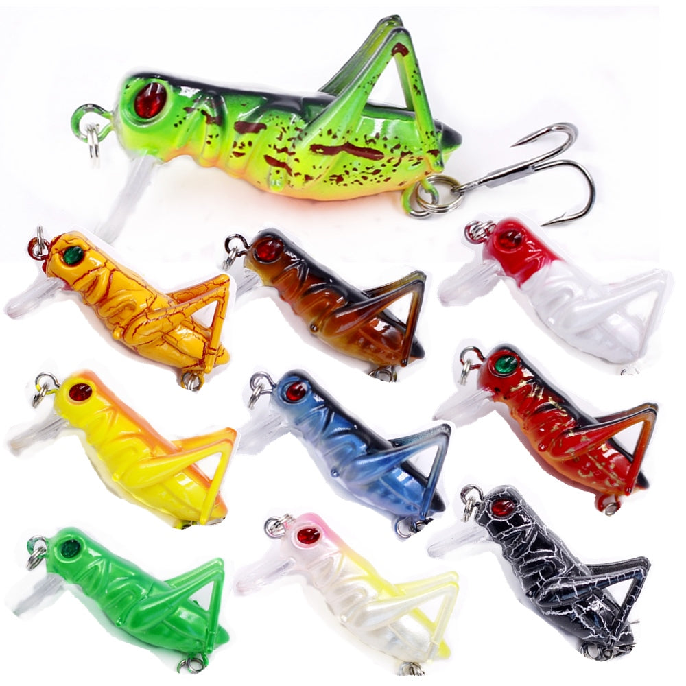 1pc 3g Grasshopper Lifelike Fly Fishing Lure