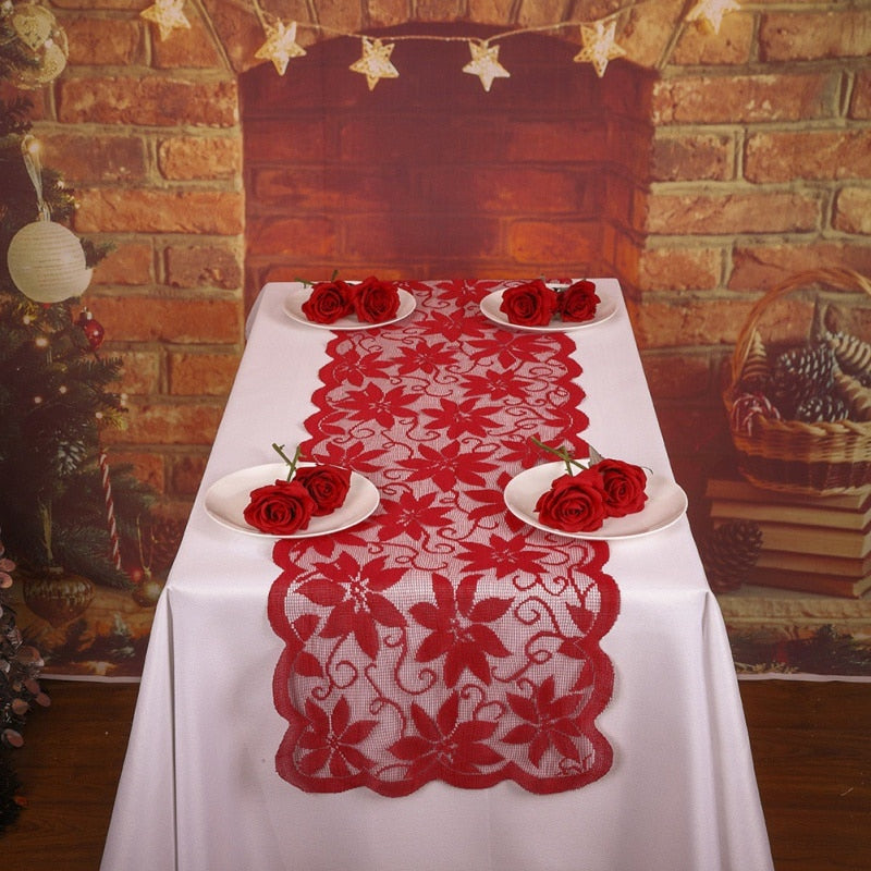 Christmas Soft Glass Cover Tablecloth