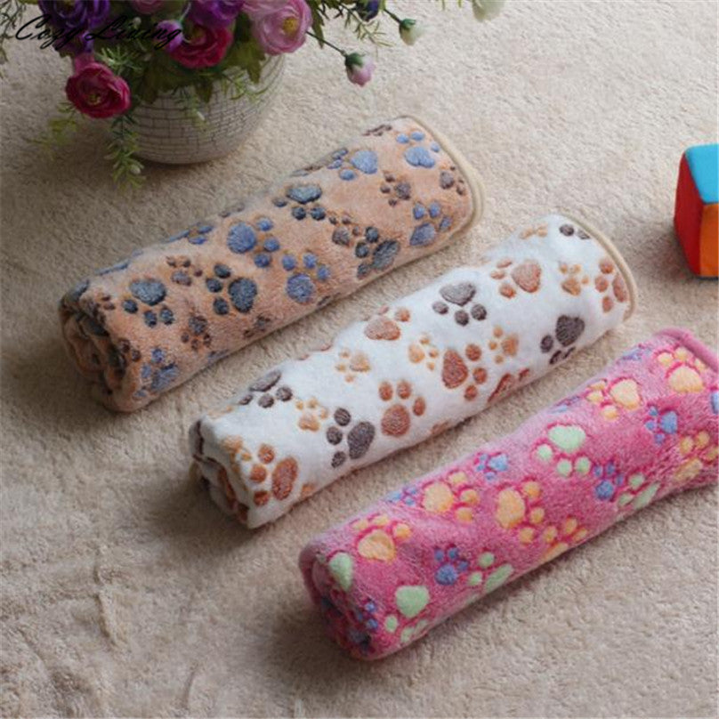 Ultra-Absorbent Paw Printed Small Dog Towel