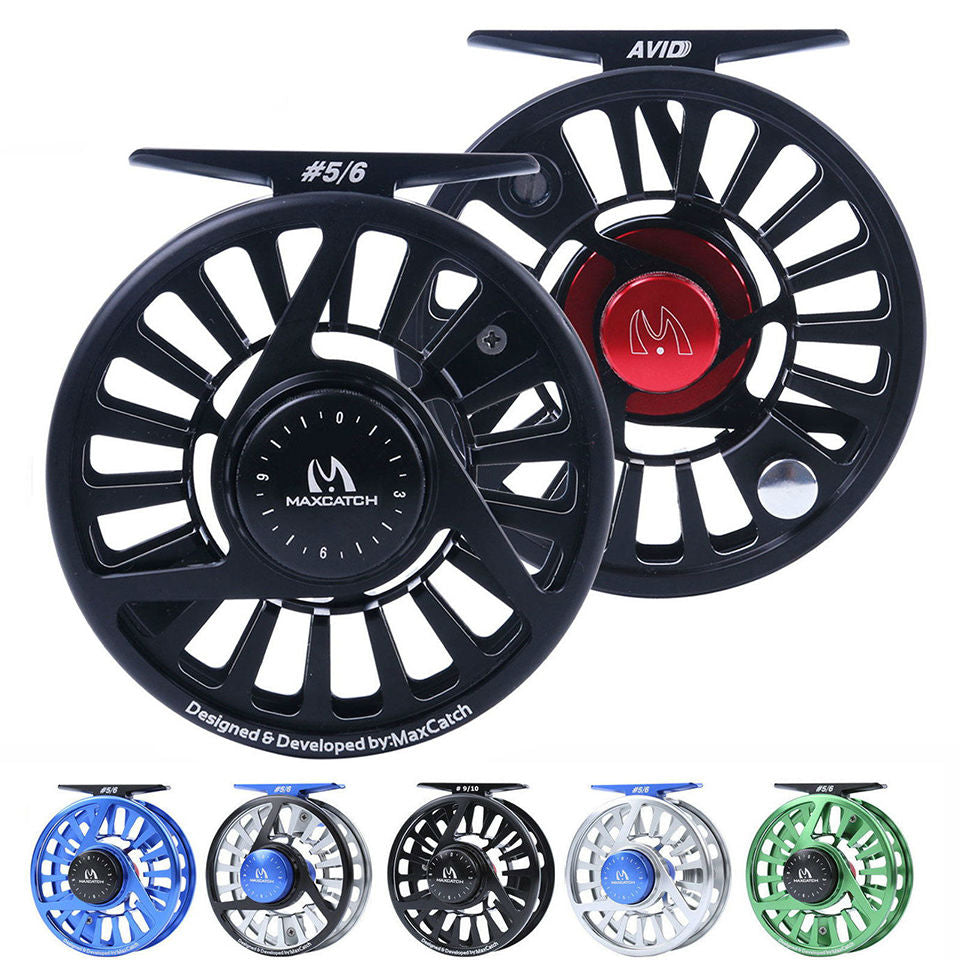 Aluminium Micro Adjusting Drag Fly Fishing Reel