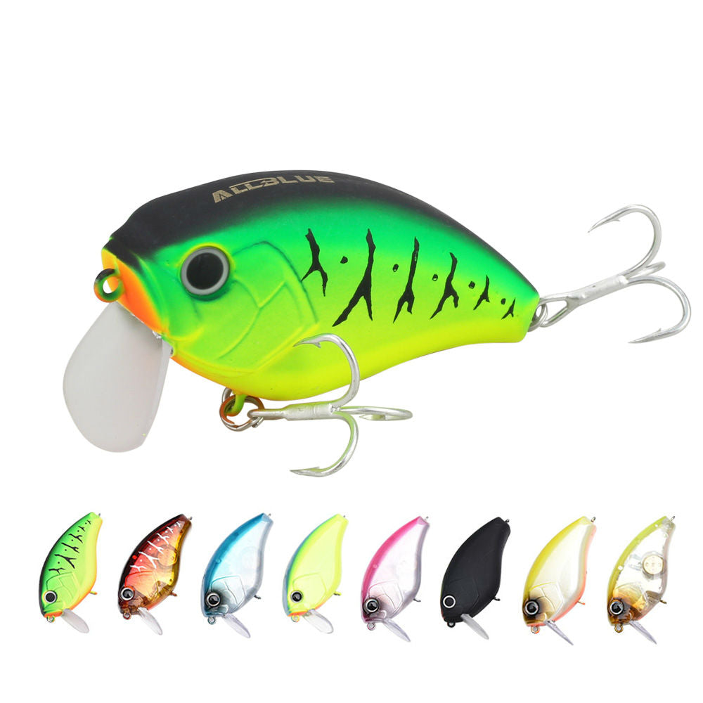 17g/60mm Lifelike Shallow Diving Crankbait with 6# Hooks