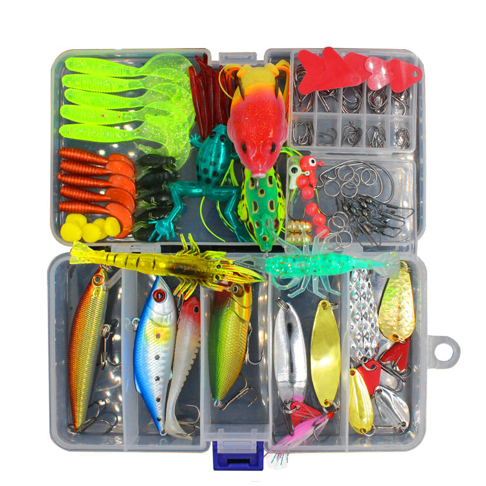 147 Pcs/Set Mixed Artificial Fishing Lure Kit